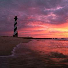 OBX Lighthouse & sunrise inspiring!