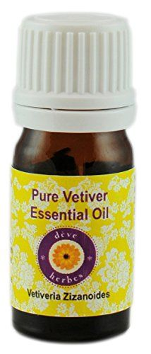 Deve Herbes Pure Vetiver Essential Oil (Vetiveria Zizanoides) 5 ML- 100% Natural - Theraputic Grade >>> Find out more details @