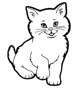 How to draw a cute realistic cat cartoon face step by step for ...