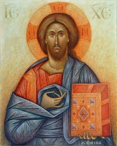 """Take my yoke upon you, and learn of me; for I am meek and lowly in heart: and… Pictures Of Jesus Christ, Images Of Christ, Christ Pantocrator, Roman Church, Byzantine Icons, Orthodox Icons, Sacred Art, Christian Art, Religious Art"