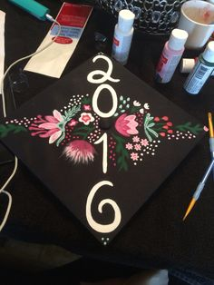 Flower graduation cap