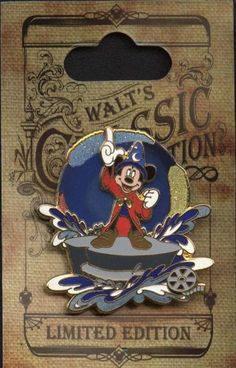 Disney Pins - Walts Classic Collection - Limited Edition - Fantasia - The Sorcerers Apprentice Pin 75920 by Disney, http://www.amazon.com/dp/B007C6X6C4/ref=cm_sw_r_pi_dp_k8TRrb0V52K0E