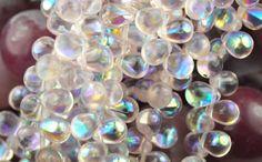 50-PINK-AB-CZECH-GLASS-TEAR-DROP-BEADS-8MM. $3.15