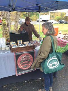 Shelley Boris shopping at a Farmer's Market