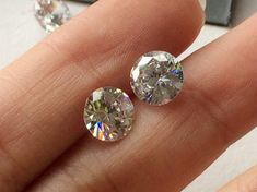 100 Pcs 6mm Cubic Zirconia Loose Round Zircon by gemsforjewels