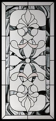Stained Glass Door Inserts - Royale 22x48 Stocked by Randal's Wrought Iron & Stained Glass serving the Greater Toronto Area and surrounding areas.