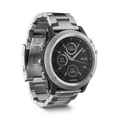 Garmin Fenix 3 Sapphire Titanium GPS+GLONASS Watch 10 ATM Waterproof Multi-Sports Wristwatch Map Running Swim Golf