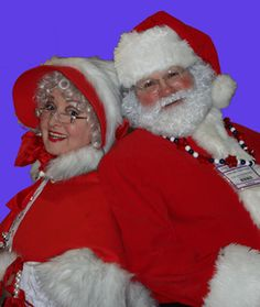 professional santa clauses | Gillian Campbell and Edward Thomson