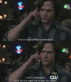 Supernatural: Cas is no good with voicemail.