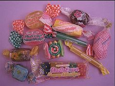 Assortment of sweets erasers (Iron Lace) Tags: cute japan eraser kitsch 80s kawaii 1980s stationery erasers gommes