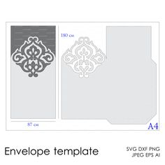 Envelope Template Instant Download cutting file by EasyCutPrintPD