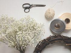 hanging flower wreath diy