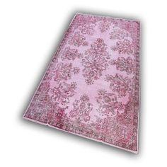 oud roze vloerkleed
