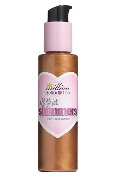 million dollar tan 'All That Shimmers' Dry Oil Shimmer available at #Nordstrom