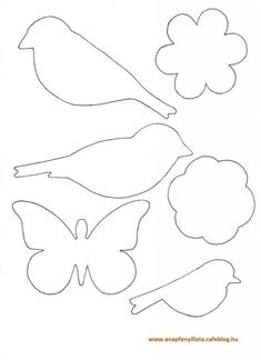 Awesome classroom decoration ideas for grade 3 Easter Crafts, Felt Crafts, Diy And Crafts, Crafts For Kids, Bird Template, Flower Template, Decoration Creche, School Decorations, Applique Patterns