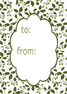 green sprig gift tags