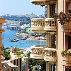 Le Florestan residence's balconies and the Larvotto beach, Monaco