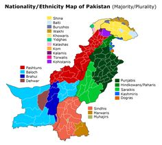 Nationality/Ethnicity Map of Pakistan Pakistan Map, Google Maps App, United Nations Peacekeeping, Cultural Architecture, The Past, Culture, Rock Lee, Geography, Japanese