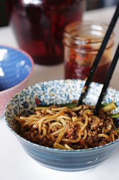 Have a slurpy, mouth numbing, spicy bowl of #Sichuan #DanDan #Noodles for less than $2.40!