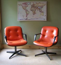 Retro Mid Century Office Chair-Steelcase- Side Chair-Accent Chair