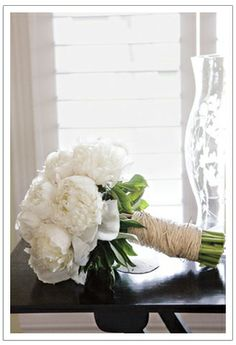Who doesn't love white peonies?
