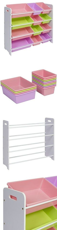 Toy Boxes 94932: Best Choice Products Kids White And Pastel Toy Bin Storage Organizer -> BUY IT NOW ONLY: $62.5 on eBay!