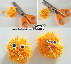 Bilderesultat for påskepynt barn Fluffy Chicken, Finger Fun, Activities For Kids, Crafts For Kids, Yarn Crafts, Easter Crafts, Coloring Pages, How To Make, Diy