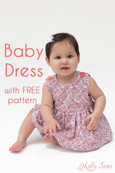 Knitting Baby Girl Dress Sewing Tutorials Ideas For 2019 Baby Dress Pattern Free, Free Baby Patterns, Baby Girl Dress Patterns, Baby Clothes Patterns, Baby Girl Dresses, Free Pattern, Dress Girl, Sewing Patterns, Pattern Ideas