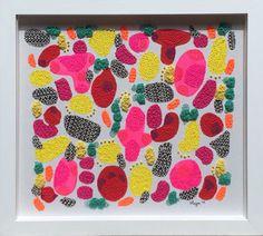 Arte original titulado pintada a mano FlirtingwithYellow por 'Viernes'