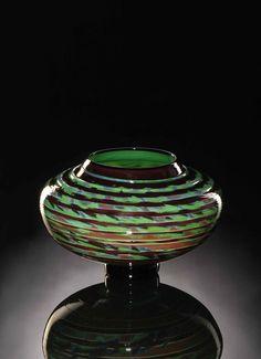 Decorative Glass Tapestry Bowl by KatzGlassDesign
