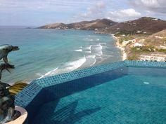 Grapetree Bay Beach & Divi Carina Bay Beach Resort on St. Croix, USVI. as seen from Villa Paradiso.  March, 2013