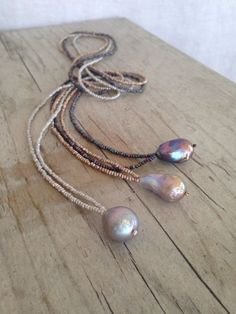 POEMA long pearl necklace by layerbar on Etsy https://www.etsy.com/listing/236303740/poema-long-pearl-necklace