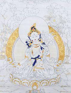 White Tara Thangka @ NORBULINGKA  www.norbulingkashop.com