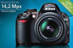 Câmera Nikon Reflex D-SLR D3100, que filma em HD e possui 14,2 Mpx, por apenas R$1599.90