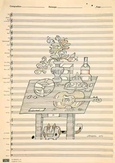 The Paris Review?, 1967 by Saul Steinberg. Expressionism. animal painting