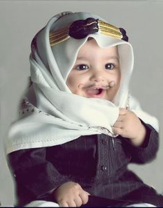 "Baby sheikh issuing fatwas: ""milk and cookies after every maghrib prayer for babies!"""