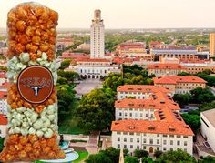 The Burnt Orange and White. Texas Longhorn Popcorn gifts! $10.00