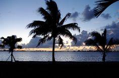 Sunrise across Biscayne Bay, Miami, Florida