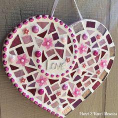 Valentines Love Mosaic by Heart2HeartMosaics on Etsy, $45.00
