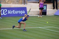 Genie Bouchard R1 win - via Genie Bouchard News on Twitter - Credit photo: Mallorca Open - June 14, 2016