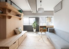 Sinato hides bedrooms behind an L-shaped wall in Fujigaoka M apartment
