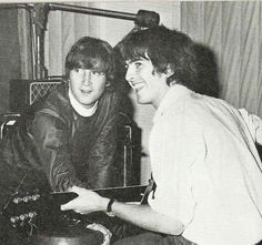 1966 - John Lennon and George Harrison.                                                                                                                                                                                 More