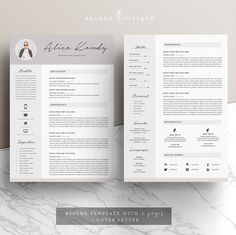Resume Template 3page   Charming by The.Resume.Boutique on @creativemarket