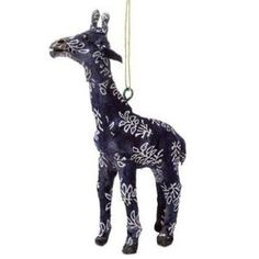 Handmade Paper Mache Giraffe Christmas Ornament by Wayfair