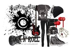 """""""Rocker"""" by cutiepieadorbz ❤ liked on Polyvore featuring Yves Saint Laurent, Converse, Alexander McQueen, Crafted, Beats by Dr. Dre and rock"""