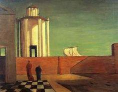 L'énigme de l'arrivée et de l'après-midi (1912) Giorgio de Chirico.