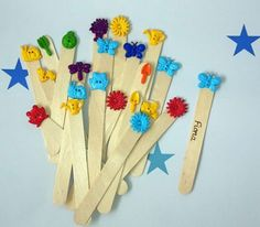 End of year pupil gifts: Personalised bookmarks  (garden/bugs theme)      Gift idea from teacher to pupil, lovely idea to encourage reading. Personalised with a pupil's name, by pyrography