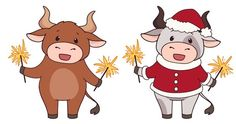 Christmas Costumes, Christmas Humor, Cartoon Nail Designs, Cartoon Cow, Stickers, Stitch, Drawings, Cards, Anime
