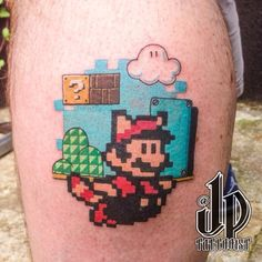 Get Powered Up With These 28 Amazing Super Mario Tattoos Life Tattoos, Body Art Tattoos, Sleeve Tattoos, Cool Tattoos, Geek Tattoos, Tatoos, Nintendo Tattoo, Gaming Tattoo, Video Game Tattoos
