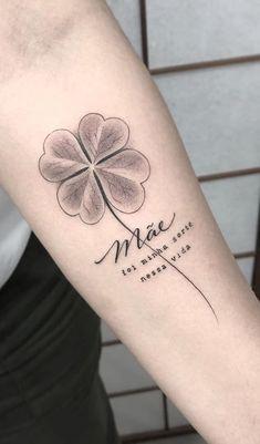 Mini Tattoos, New Tattoos, Body Art Tattoos, Small Tattoos, Clover Tattoos, Irish Tattoos, Tattoo Set, Unique Tattoos, Tattoo Inspiration